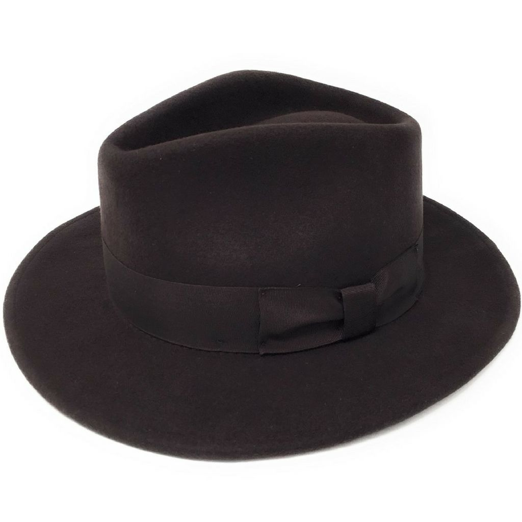 8a230ab7ae Brown Fedora Hat Wool Crushable - Indy